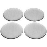 Dekal for senterkopp - børstet aluminium