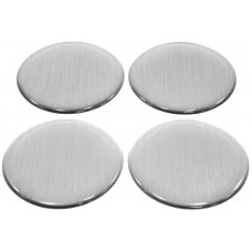 Dekal för centrumkåpa - Borstad aluminium