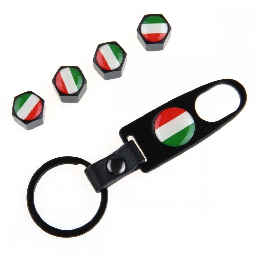 Ventilhattar flagga Italien 4st + Nyckelring