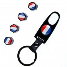 Ventilhattar flagga Frankrike 4st + Nyckelring
